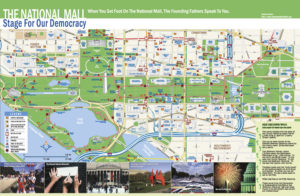 2017 National Mall map and historical guide