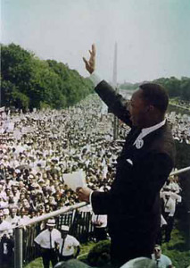 "Martin Luther King's ""I Have A Dream"" speech in 1963"