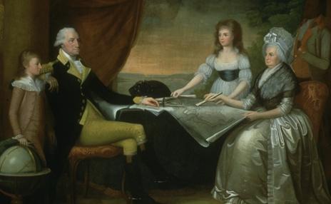 President Washington holding the L'Enfant plan for the city of Washington