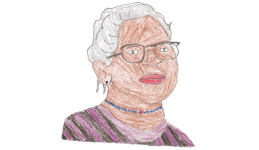 Rosa Parks illustration by Mykia Plummer