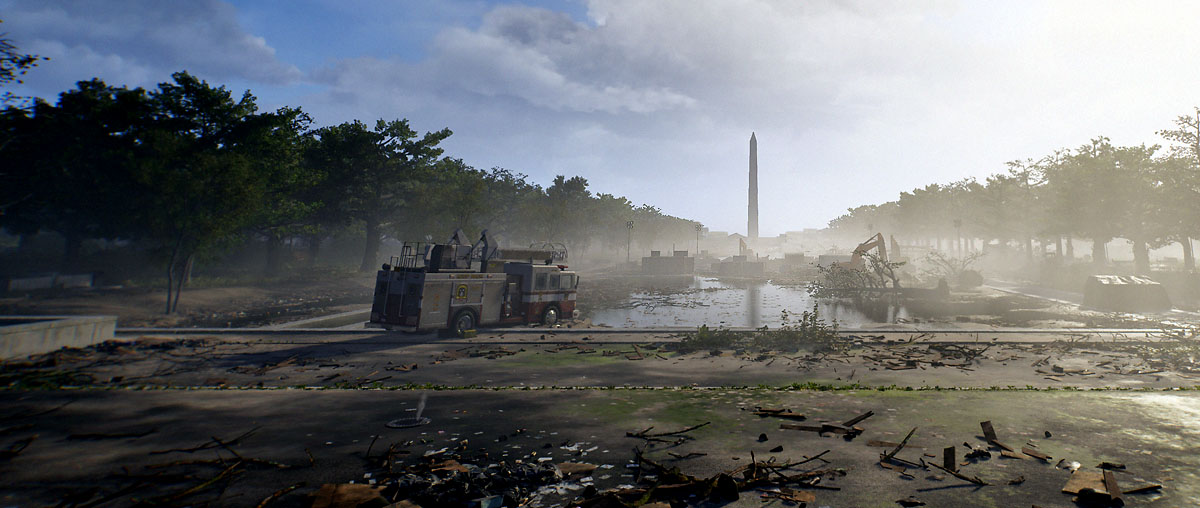 Ubisoft's third person shooter, Tom Clancy's The Division 2, features such ravaged Washington D.C. landmarks as the Washington Monument.