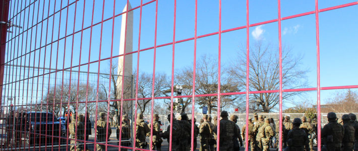 Security around the National Mall and U.S. Capitol building (Photo by Lisa Benton-Short / National Mall Coalition)